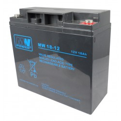 Akumulator 12V 18 Ah MW AGM MWPower 6-9 lat szczelny