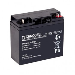TC 18 - 12 Akumulator 12V 18 Ah Technocell