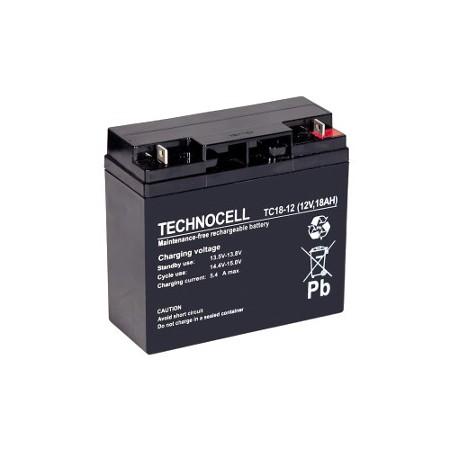TC 18 - 12 Akumulator 12V 18 Ah Technocell