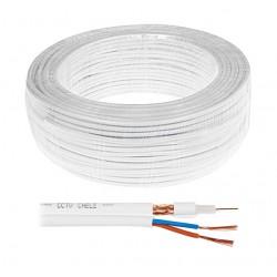 K-60-2x0,50 Kabel koncentryczny z parą zasilajacą