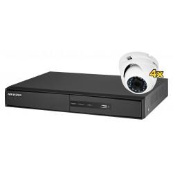 Zestaw monitoringu HD-TVI 4x DS-2CE56D1T-IRM, 1x DS-7216HGHI-SH/A Hikvision
