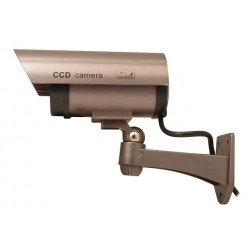 Atrapa kamery z diodami IR LED purpurowa